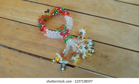 crystal beaded Thai Garland colorful