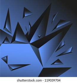 Crystal blue background. Raster version of the loaded vector.