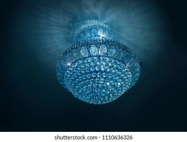 crystal of chandelier for decoration room. Luxuary decoration concept.