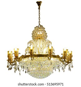 Chandelier images stock photos vectors shutterstock crystal chandelier isolated on white background aloadofball Gallery