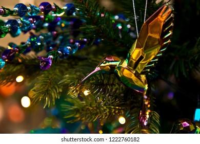 Crystal christmas ornament: flying bird