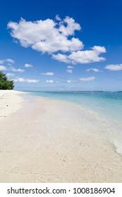 Crystal clear beach of Mauritius Island in summer