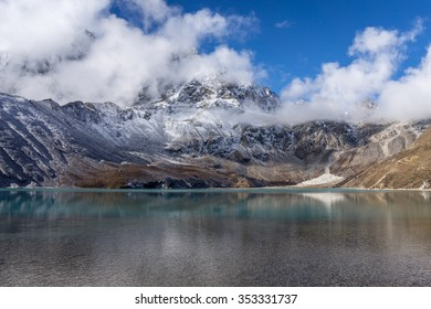 Crystal clear Gokyo mountain lake, Everest region, Nepal
