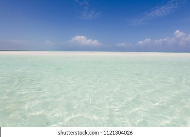 Crystal clear sea in Zanzibar Island, Africa