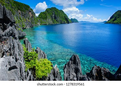 Crystal clear water in the Bacuit Archipelago, Palawan, Philippines