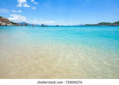 Crystal clear water beach