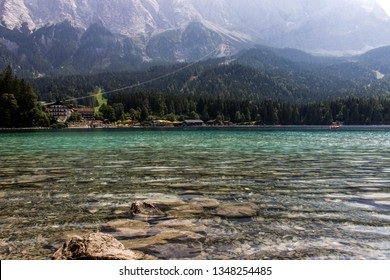 Crystal clear water from Eibsee, Bayern, Germany