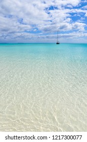 Crystal clear water on a beach of Ouvea Island. New Caledonia, France.