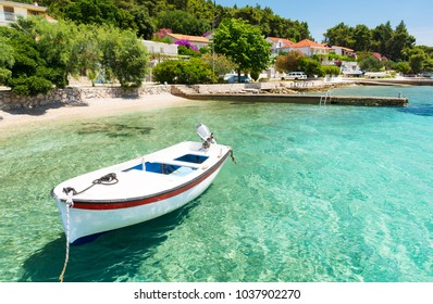 Crystal clear water in Orebic on Peljesac peninsula in Dalmatia, Croatia
