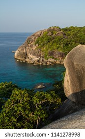 Crystal clear water and remote bays in the Similan Isalnds National Park, Thailand