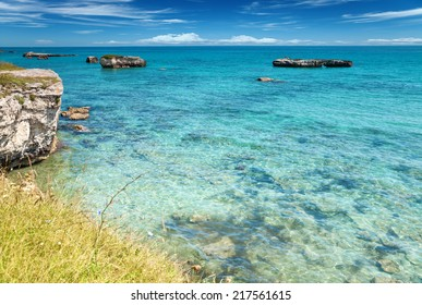 Crystal clear waters in Puglia, southern Italy