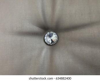 Crystal decoration on sofa