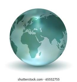 Crystal Earth Globe