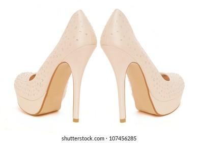 crystal encrusted platform high heeled stilettos