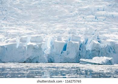 Crystal glacier in the  Antarctic waters