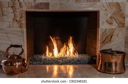 Crystal Glass Fireplace