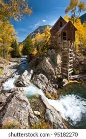 Crystal mill Rocky Mountain Autumn