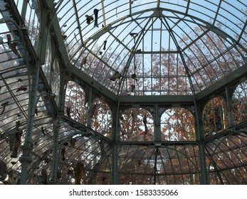 Crystal Palace del Retiro in the park in Madrid