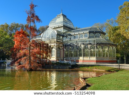 crystal palace el retiro park madrid spain の写真素材 今すぐ編集