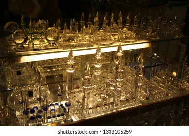 crystal reproductions of the blue mosque sold as souvenirs