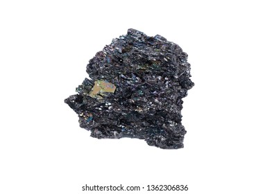 A crystal of silicon carbide a carborundum isolated on a white background.