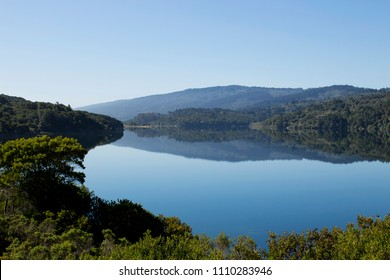 Crystal Springs Reservoir from Sawyer Camp Trail