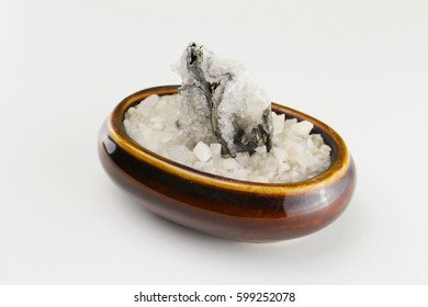 Crystal stone on white background