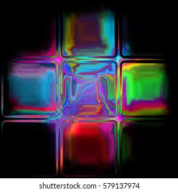 crystal tile pattern texture background - neon glass cross