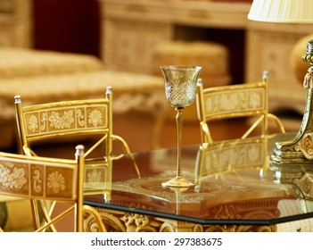 Crystal wineglass