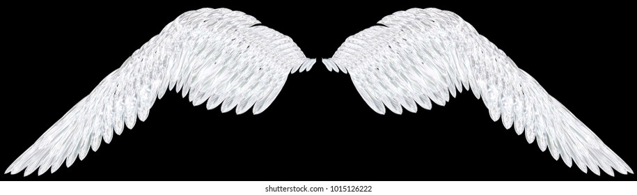 Crystal Wings 3D Illustration