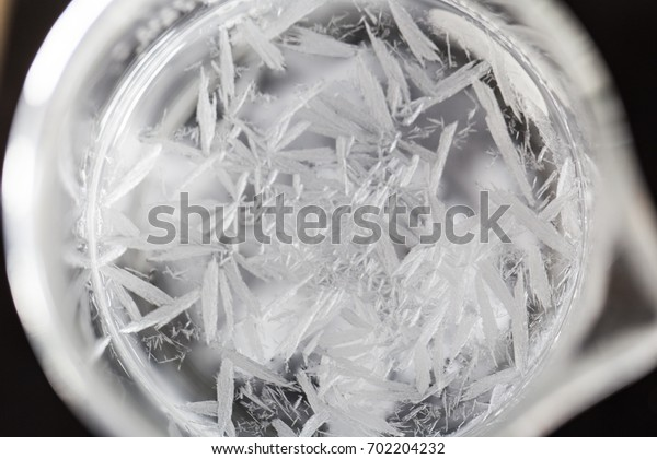 Crystallization is the (natural or artificial) process by which a solid forms in laboratory.