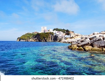 Crystally clear water of the island of Ponza, Italy