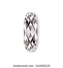 .Crystals. Crystal strasses on a white background. Beautiful shiny sparkling rhinestones isolated diamond fashion gems jewelery precious strass. Jewelry, rhinestones, shiny stones