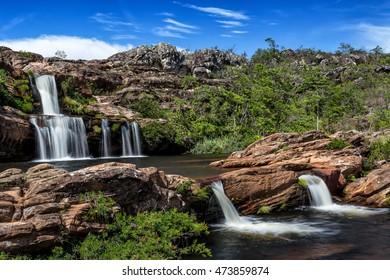 Crystals Falls at Biribiri State Park in Minas Gerais, Brazil.
