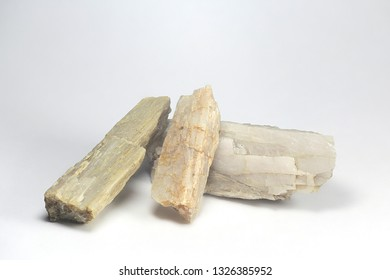 Crystals of major industrial lithium ore spodumene.  Sample from Haapaluoma lithium quarry in Finland.