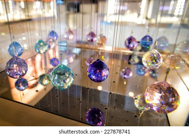Crystals on a thin thread