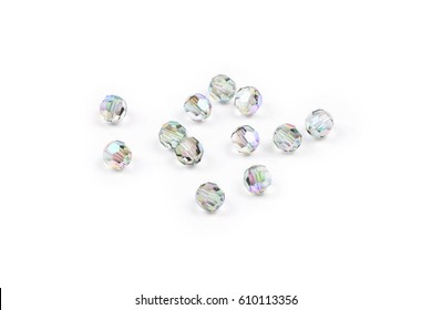 Crystals on white background