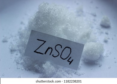 Crystals of zinc sulfate, the substance is used in agriculture, in medicine for the preparation of many drugs, in electrochemistry for the production of chemical sources of current.