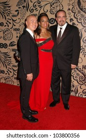 C.S. Lee with Lauren Velez and David Zayas at HBO's Post Emmy Awards Party. Pacific Design Center, West Hollywood, CA. 09-20-09