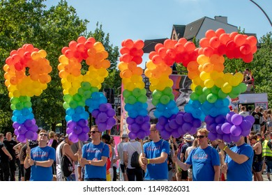 CSD Hamburg - Christopher Street Day  Hamburg Germany 08/04/2018 - annual European LGBT celebration and demonstration against discrimination and exclusion