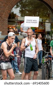 CSD Hamburg - Christopher Street Day  Hamburg Germany 08/05/2017 - annual European LGBT celebration and demonstration against discrimination and exclusion