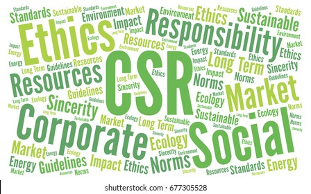 CSR corporate social responsibility word cloud