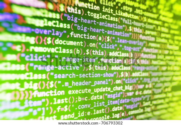 Css Javascript Html Usage Digital Technology Stock Photo