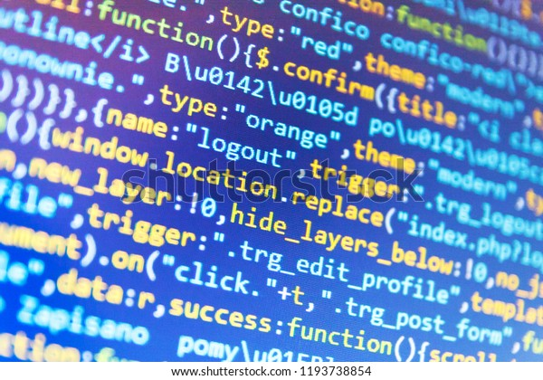 Css Javascript Html Usage Programming Code Stock Photo (Edit