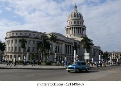 Cuba: The capitolio in Havanna, where the cuban government and congress is situated