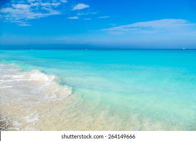 cuba, caribbean, south america. the dream beach of varadero