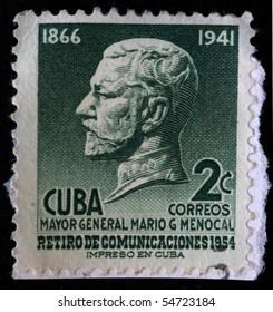 CUBA - CIRCA 1954: A stamp printed in Cuba shows Mario Garcia Menocal, circa 1954