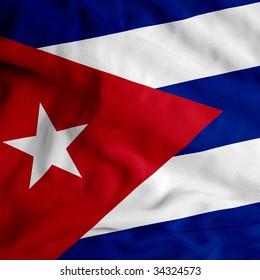 Cuba cloth flag