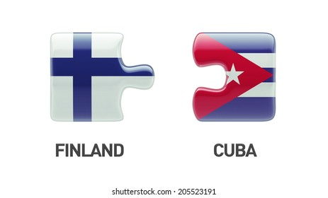 Cuba Finland High Resolution Puzzle Concept