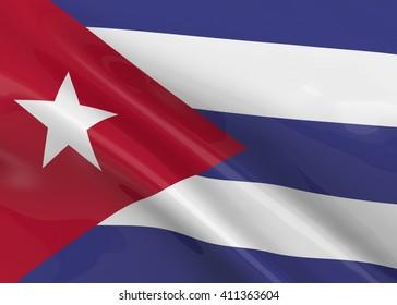 Cuba Flag - 3D
